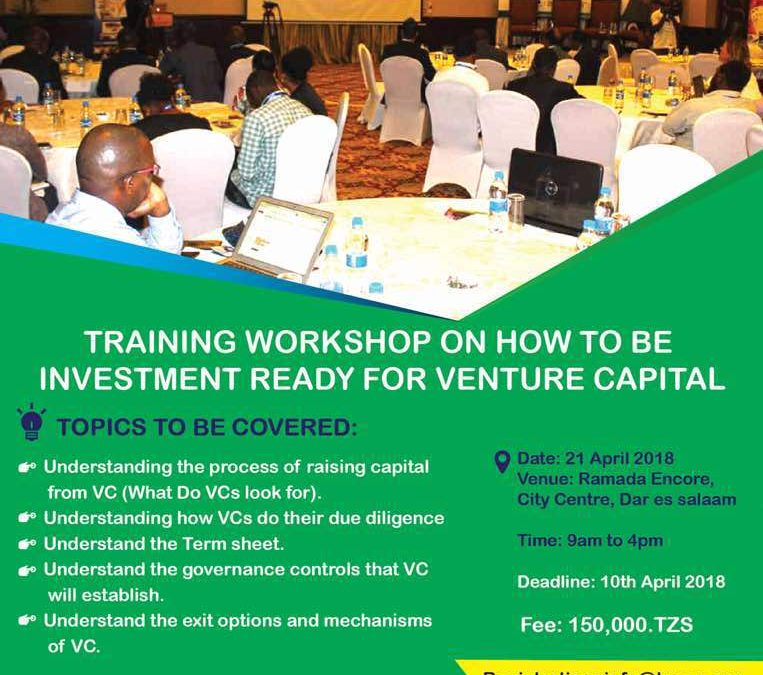 Training workshop on How to be investment ready for venture capital